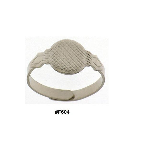 Glue on Style Adjustable Ring