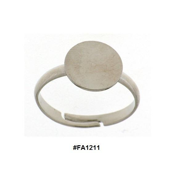 FINDINGS: Precious & Plated - Glue On Style Adjustable Ring