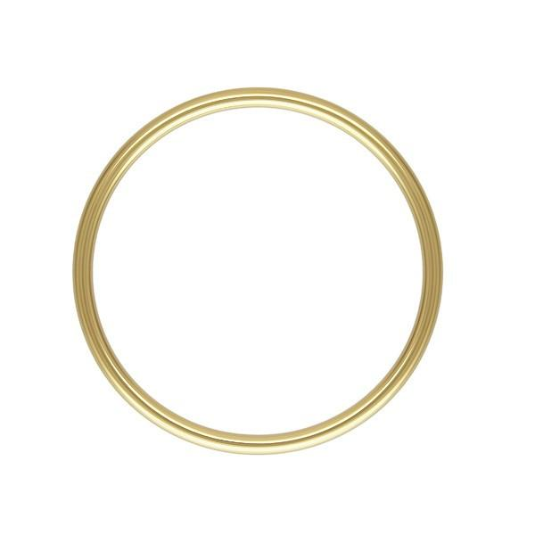 FINDINGS: Precious & Plated - Stacking Ring - Plain