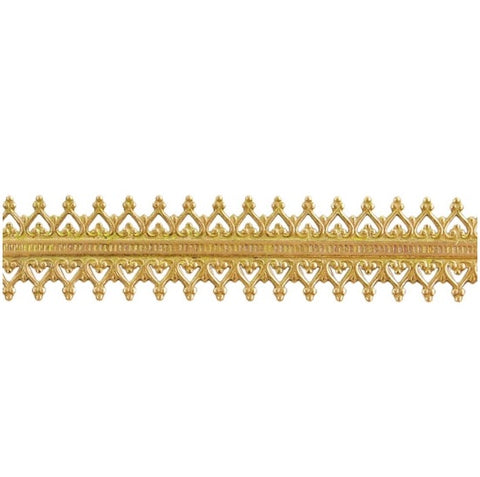 Brass Gallery Wire - Double Gallery #2