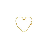 Heart Shape Earring Hoop - Small (Use Dropdown List to select Metal)