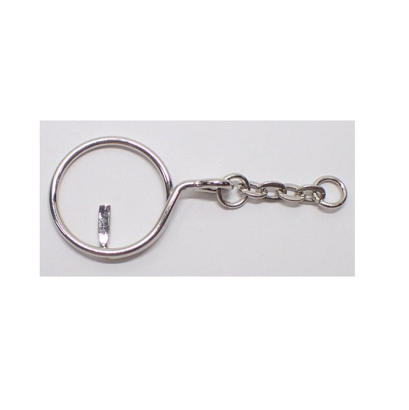 Keyring with Oval Chain Drop (Use Dropdown List to Select Colour)