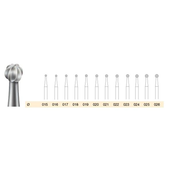 Kits - Busch Ball Bur SET - Tool Steel - 2.35mm Shaft
