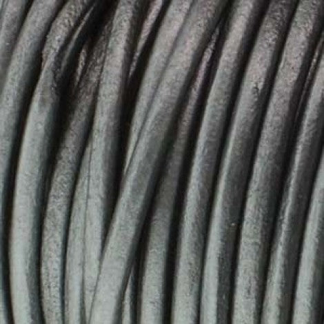 Round Leather Cord - 5.0mm diameter