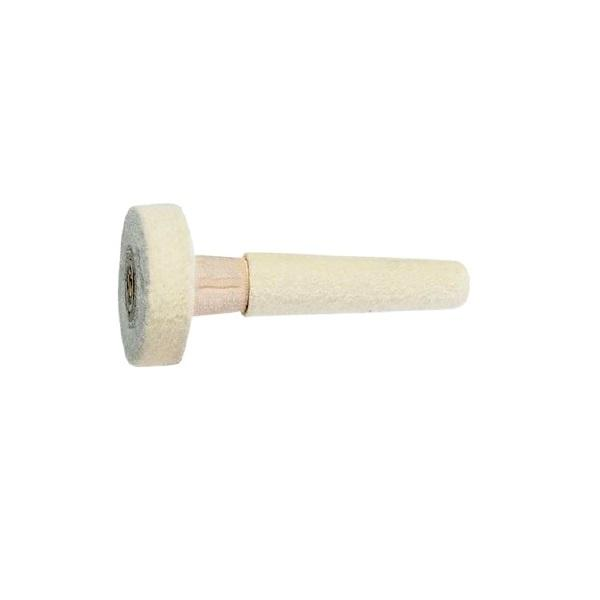 Major Equipment & Accessories - Conical Ring Brush With Wheel (for Buffing & Grinding Machines) - Solid Felt & Wood