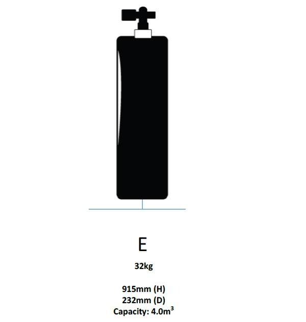 Major Equipment & Accessories - EXCHANGE Oxygen Cylinder Only - Size E