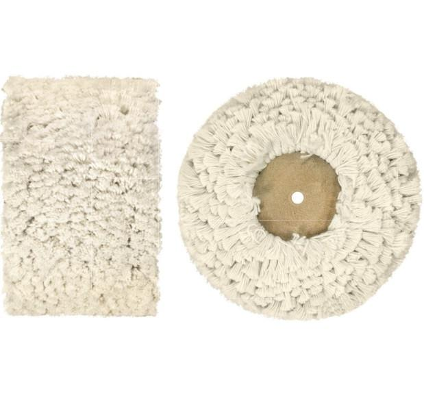 Major Equipment & Accessories - Mop (for Buffing & Grinding Machines)- Fluffy Cotton & Wooden Hub