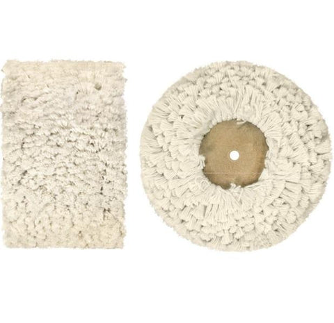 Mop (for buffing & grinding machines)- Fluffy Cotton & Wooden Hub