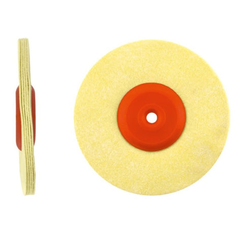 Polishing Disc with Plastic Core - 5 Row / Microfibre Leather