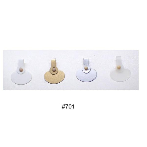 Point Of Sale Display, Packaging & Cloths - Arch Crown Plastic Button Press Tags (Box Of 1000)