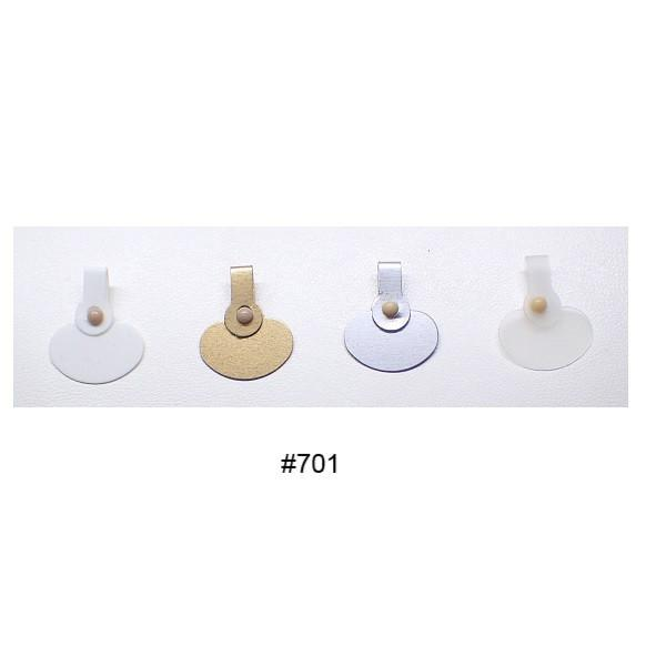 Point Of Sale Display, Packaging & Cloths - Arch Crown Plastic Button Press Tags (Packet Of 100)