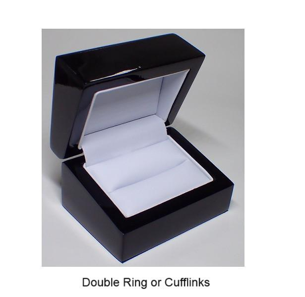 Point Of Sale Display, Packaging & Cloths - Wooden Boxes - Black Outer / White Leatherette Inner