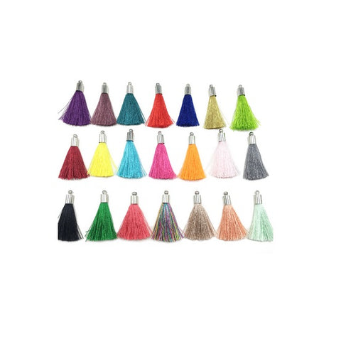 Short Silky Tassels with End Cap (Use Dropdown List to select Colour)