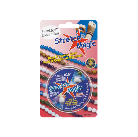 Stretch Magic - Clear Elastic Cord (Use Dropdown List to Select Size)