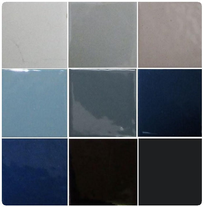 Thompson Lead-Free Opaque Enamels - Grey / Black Colourwave - 25 grams