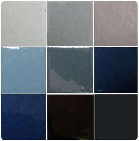Thompson Lead-Free Opaque Enamels - Grey / Black Colourwave (Select Colours from Dropdown List)