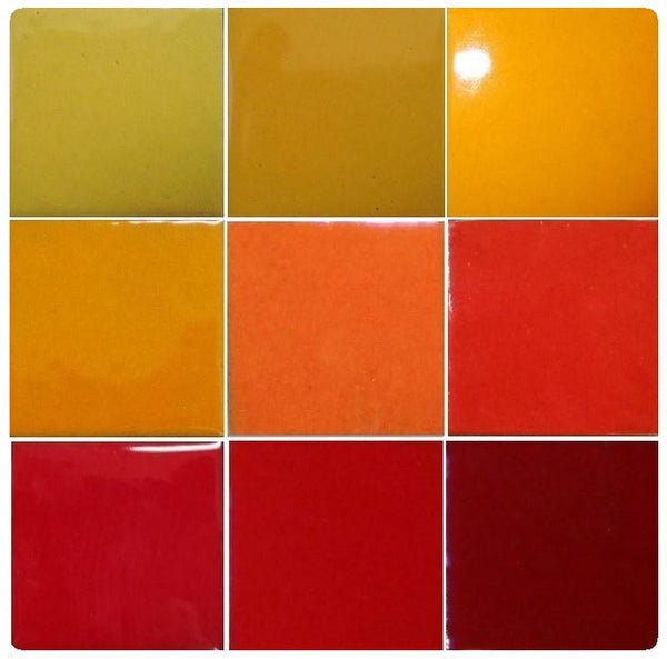 Thompson Lead-Free Opaque Enamels - Yellow / Orange / Red Colourwave - 25 grams