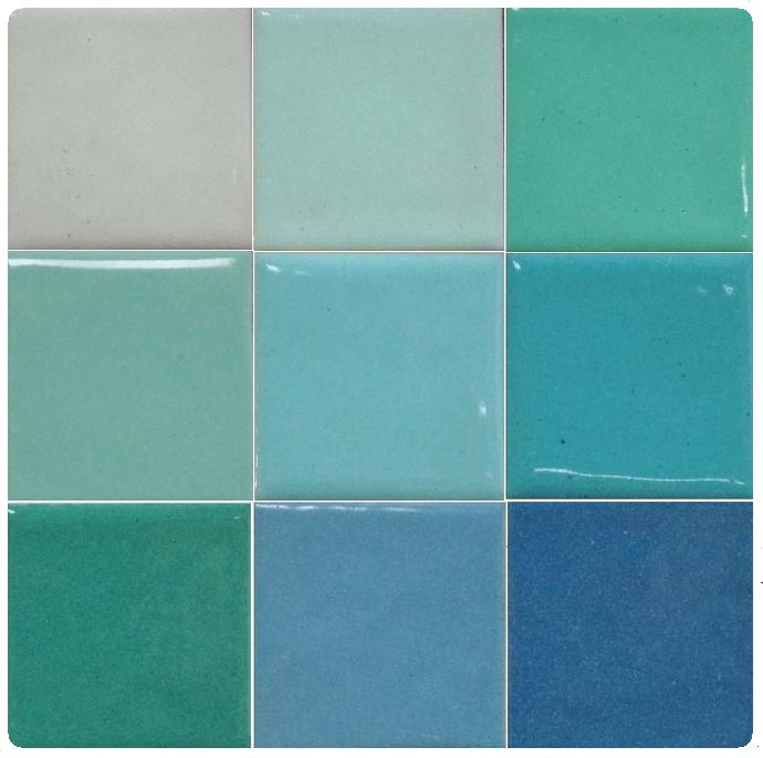 Thompson Lead-Free Opaque Enamels - Blue Green Colourwave - 25 grams