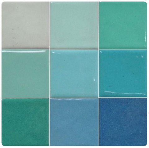 Thompson Lead-Free Opaque Enamels - Blue Green Colourwave / 25 Grams (Select Colours from Dropdown List)