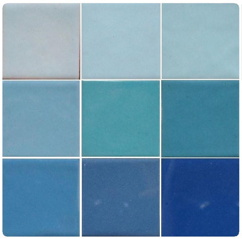 Thompson Lead-Free Opaque Enamels - Green Blue Colourwave / 25 Grams (Select Colours from Dropdown List)