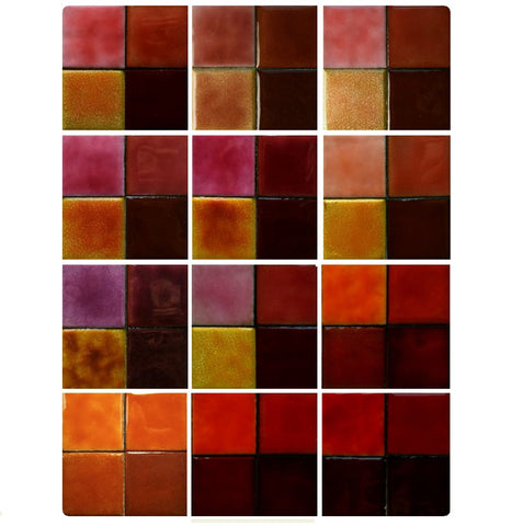 Thompson Lead-Free Transparent Enamels - Pink / Red / Orange Colourwave / 25 Grams (Select Colours from Dropdown List)