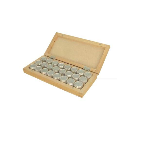 Tools & Consumables - Wooden Box With Aluminium Containers