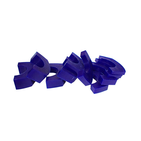 Matt Wax Bracelet Assorted Wax Slices (Blue)
