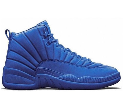 "Air Jordan 12 Retro Blue Suede ""Deep Royal Blue"" Men's 2016"