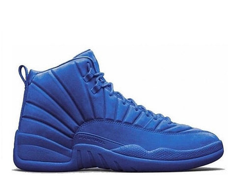 "Air Jordan 12 Retro Blue Suede ""Deep Royal Blue"" GS 2016"