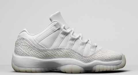 "Air Jordan 11 Low Retro Heiress Pure Platinum ""Frost White"" GS 2017"