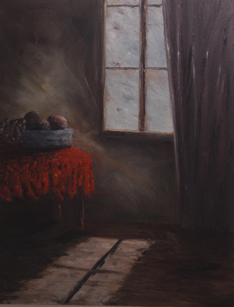 Red Tablecloth - Print Painting