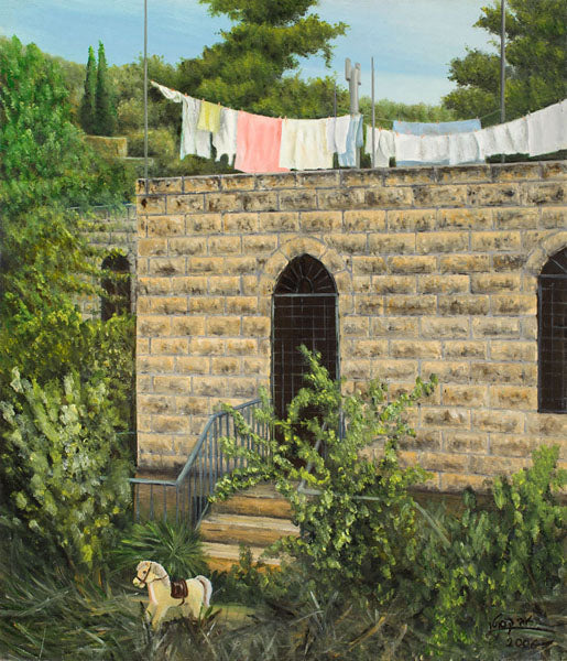 Laundry Lines - Print Painting