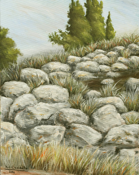"Second on the Way to ״Ein Karem"" - Original Painting"