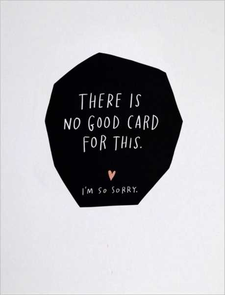 CARD-NO GOOD CARD FOR