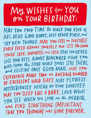 CARD - WISHES FOR YOUR BIRTHDAY