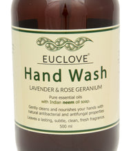 Load image into Gallery viewer, Euclove Hand Wash Lavender & Rose Geranium 500 ml