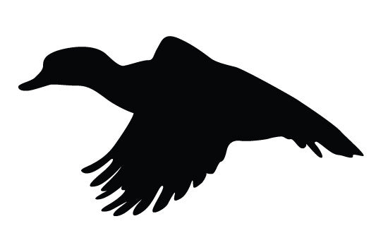 Duck flying silhouette vector