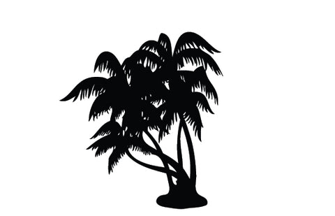 Agriculture tree silhouette vector
