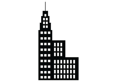 Free building silhouette vector clipart