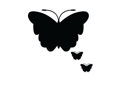 Butterfly black silhouette vector