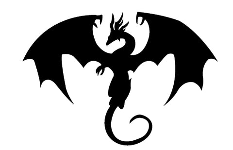 Free dragon silhouette vector clip art