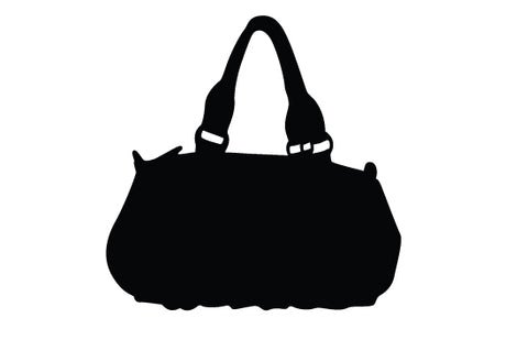 Ladies handbag silhouette vector