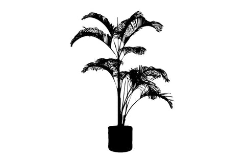 Potted plants silhouette vectors