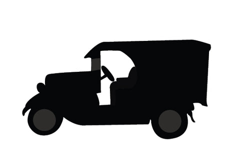 Vintage classic cars silhouette vector