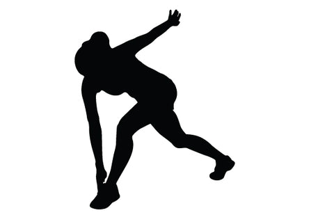 Woman exercising silhouette vector