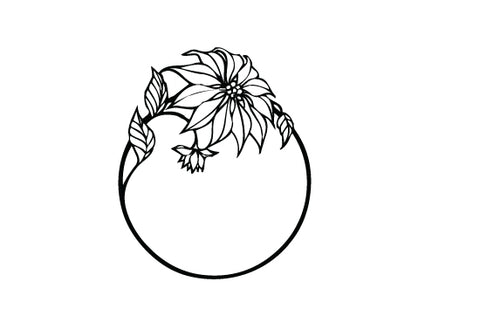 Wreath silhouette vector
