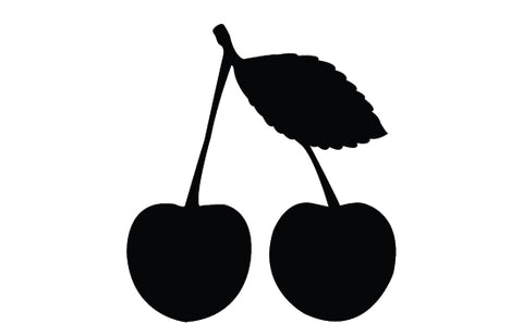 Cranberries silhouette vector