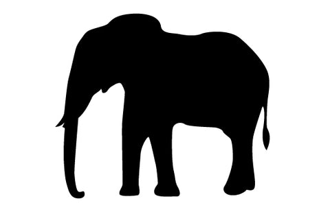 elephant silhouette vector silhouettes vector rh silhouettesclipart com Elephant Silhouette Trunk Up Elephant Silhouette Trunk Up