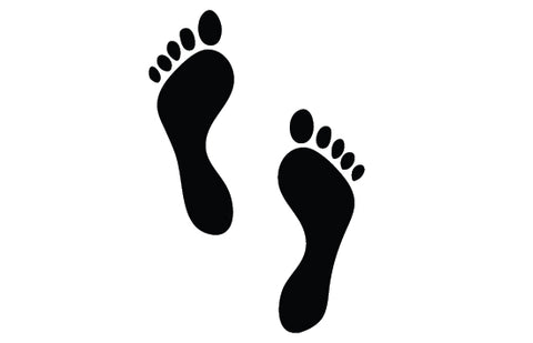 Foot print silhouette vector