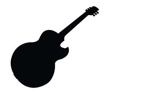 Music guitar silhouette vector